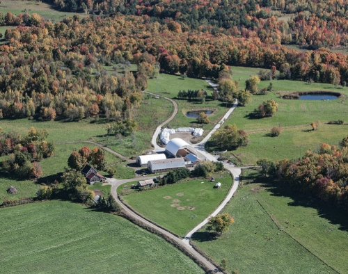 Ariel view of Stony Pond Farm, Fall 2016