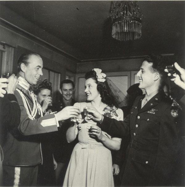 Folke Bernadotte, Hedvig Johnson and Herman Allen. Photo: Private/Pat Allen DiGeorge