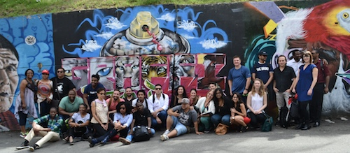 Transnational Mel King Community Fellows and CoLab staff in Medellín, Colombia. Photo credit: Unknown.