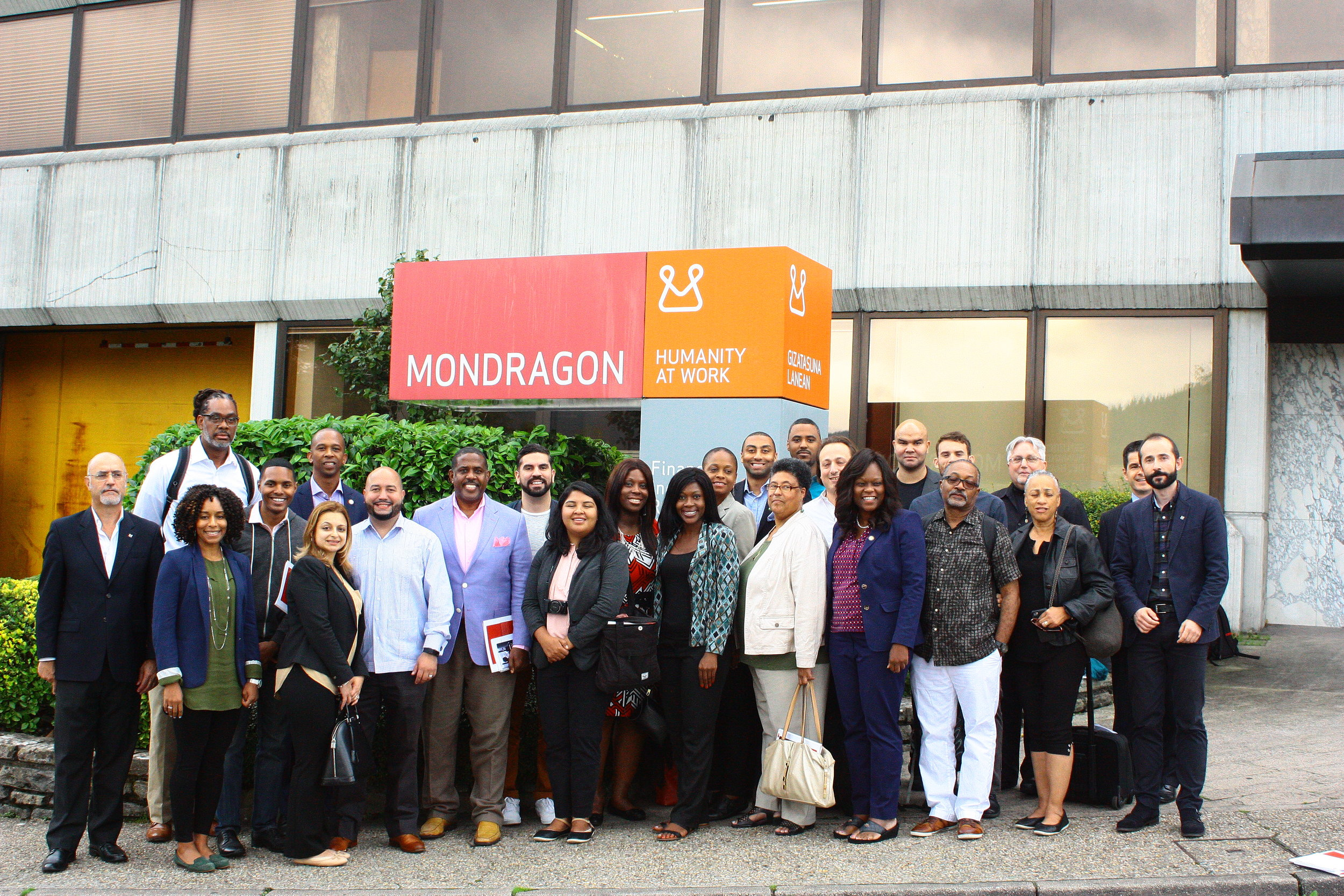NYC Elected Officials visiting Mondragon.