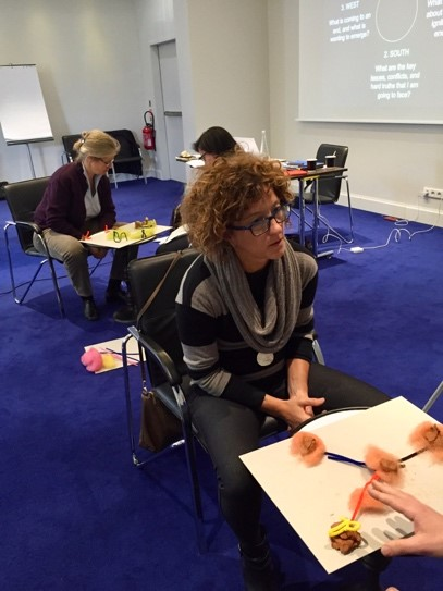 Members of the GABV Leadership Academy mapping challenges and opportunities in their work,  Photo by Dayna Cunningham