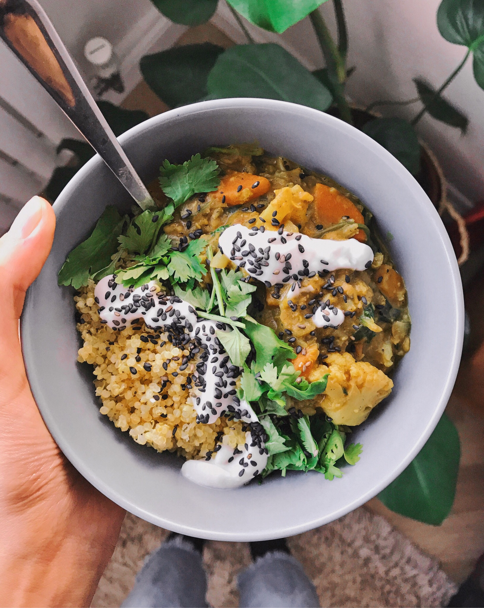 Vegan Gluten Free recipe Cauliflower and Lentil Dahl.JPG