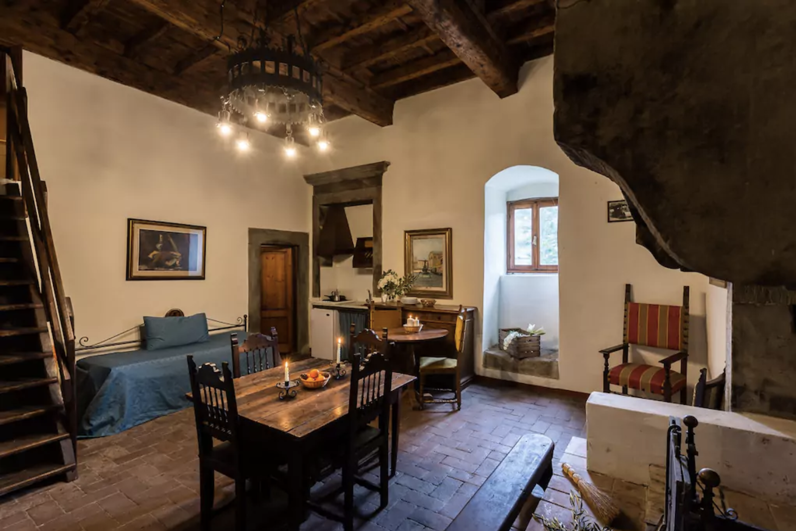 Castello 10 Living Space (Master's Quarters with massive ancient fireplace, sleeps up to 6 guests)