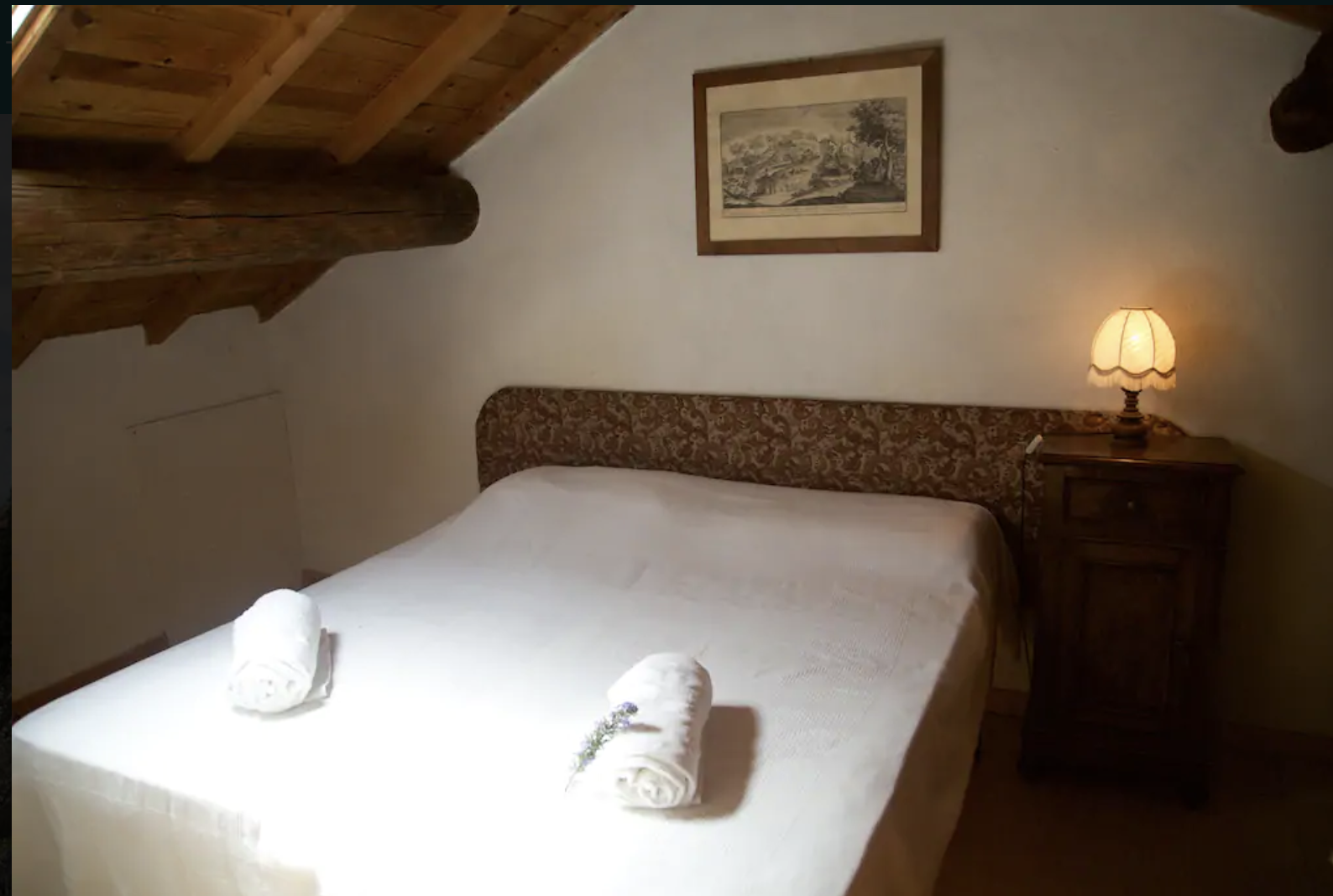 Fattoria 6 (2 bedrrom 2 bathroom apartment with sleeping loft. This upstairs bedroom can be made into a double as shown or two single beds. Apartment sleeps up to 7 guests)