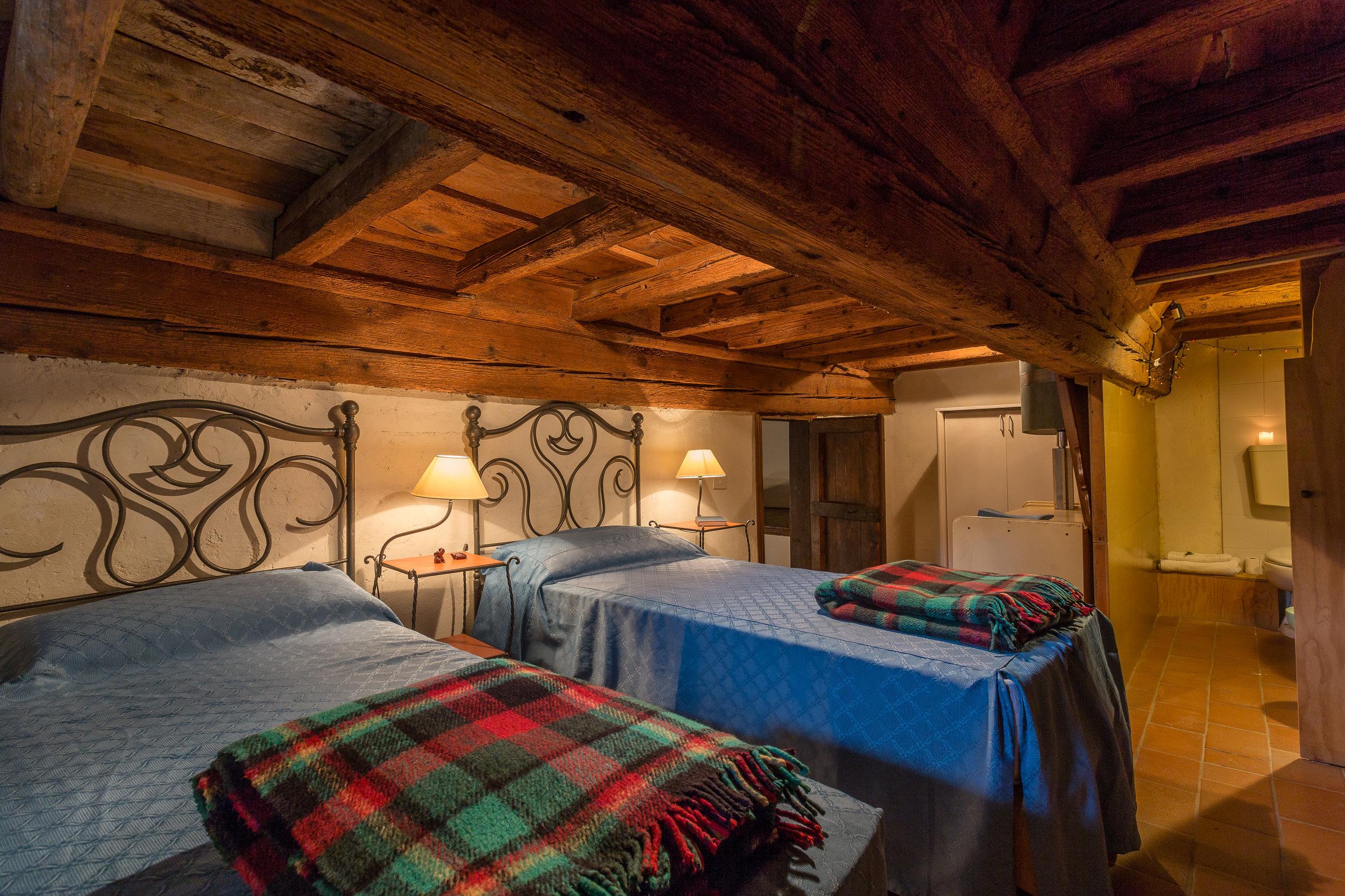 Castello 10 Loft Bedroom (2 bedroom, 1.5 bathroom apartment. This bedroom is great for kids, or short people. Nicknamed, 'The Hobbit Room')