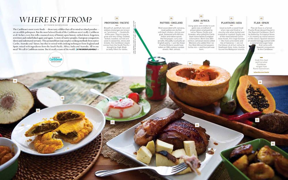 Caribbean food photography