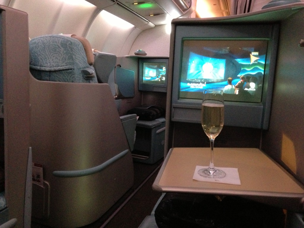 Business class - a rare indulgence for me!