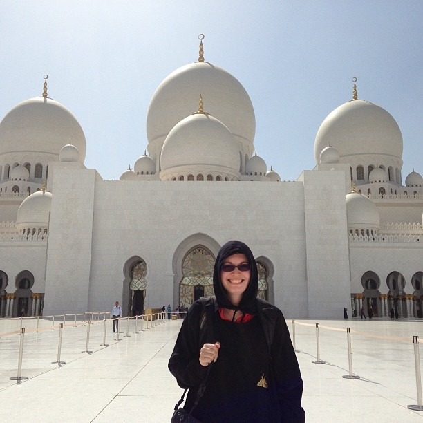 All women touring the most were required to don an abaya