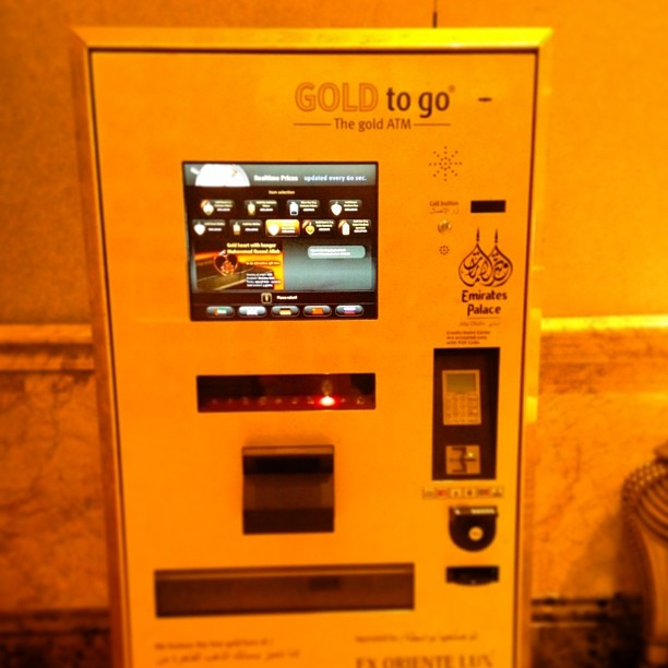 You can buy gold from an ATM. Yes, you read that correctly.