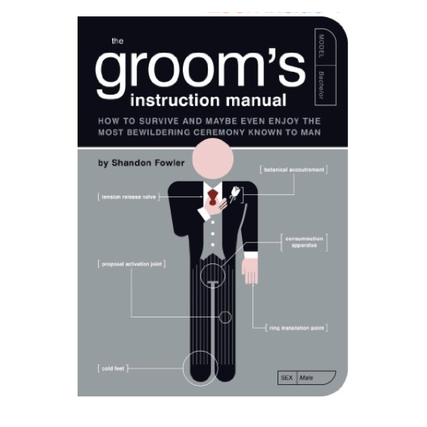 The Groom's Instruction Manual - The groom-to-be's role doesn't end with popping the question. With answers to common questions and male-oriented advice, the Groom's Instruction Manual is the perfect wedding planning companion for your guy.