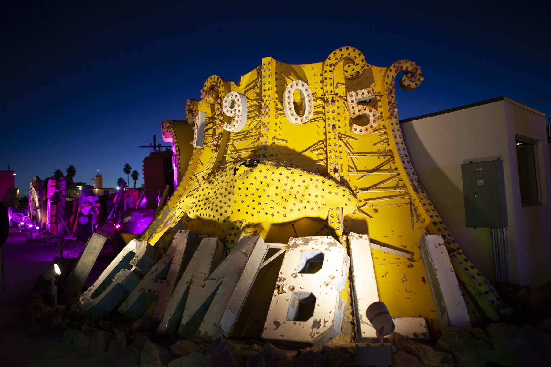 The Neon Museum, Las Vegas, Nevada during Blue Hour
