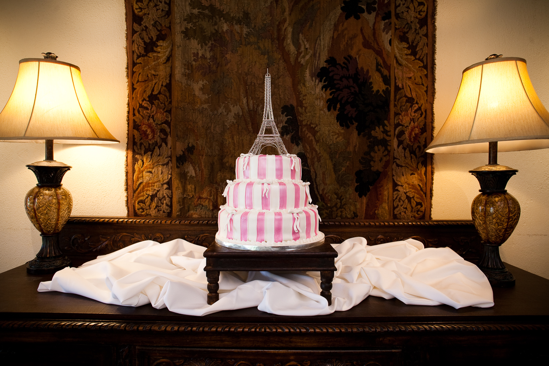 Vintage pink wedding dress at Casa Feliz wedding, Winter Park, Florida