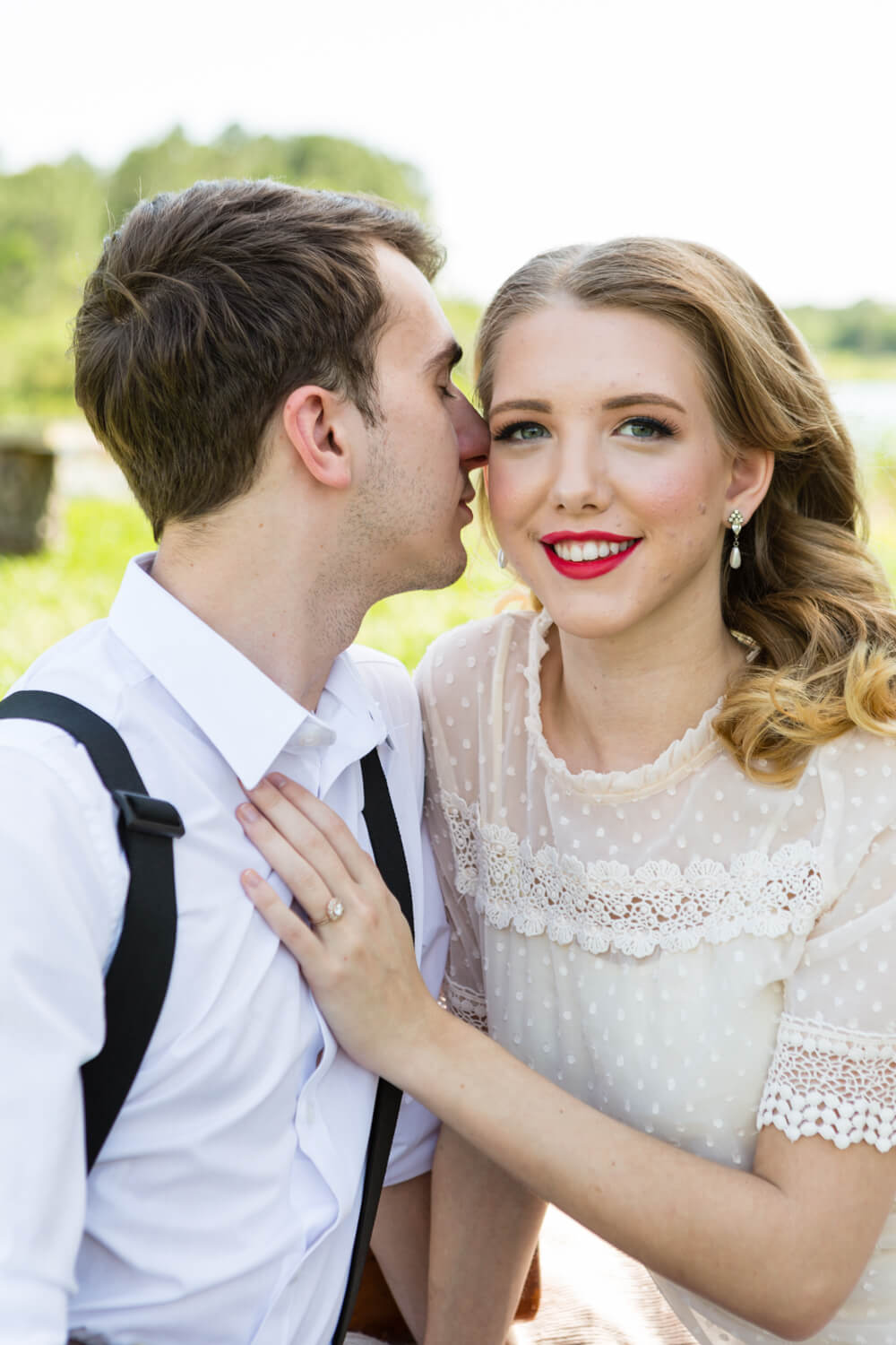 Intimate wedding shoot themed around The Notebook Movie