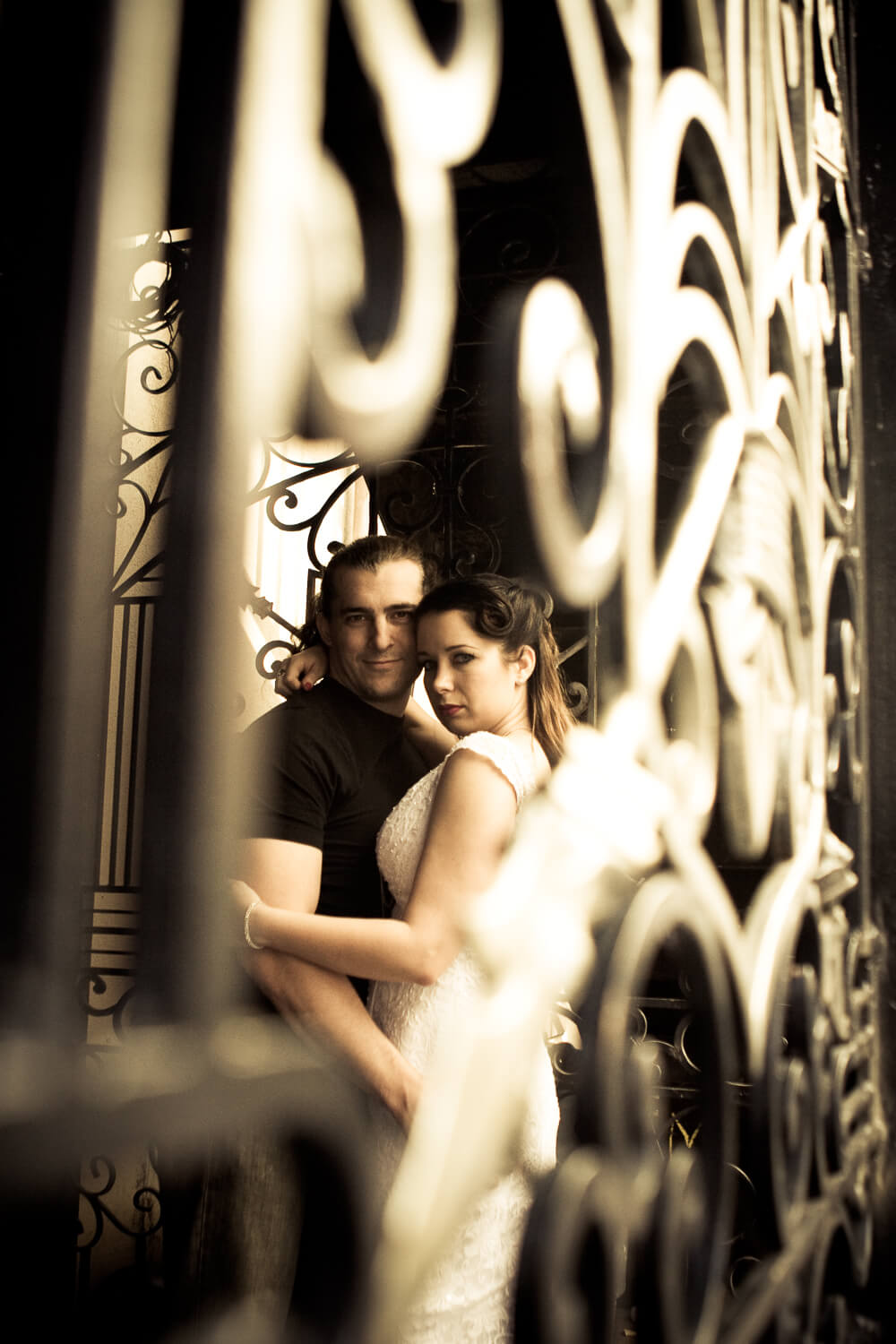edgy urban trash the dress