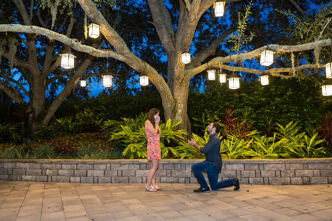 Nick and Kelsey's Marriage Proposal at the Orlando Hyatt Grand Cypress, Florida