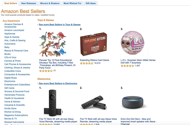 Best Sellers in Amazon US