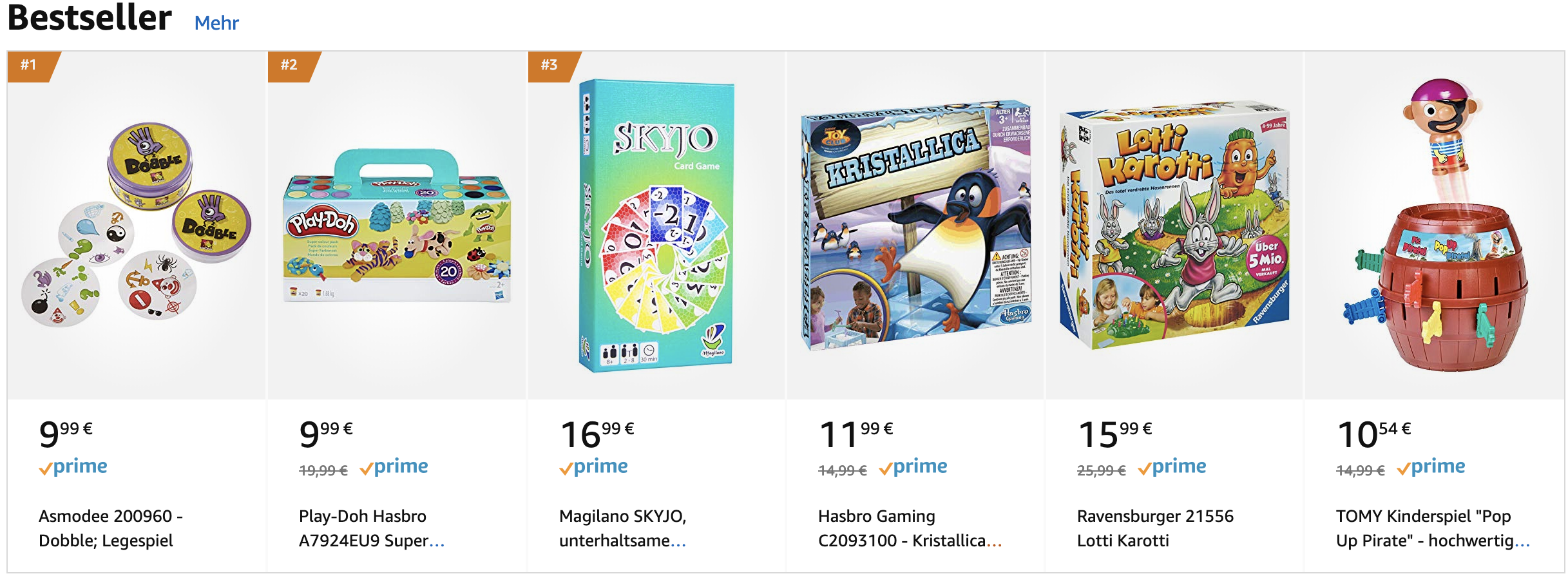 Best Sellers in Amazon Germany's Toys & Games Category