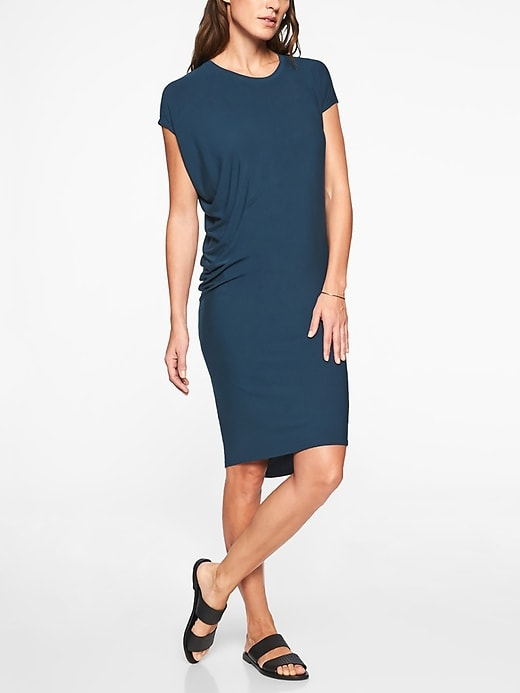 Athleta | Draped Crew Dress