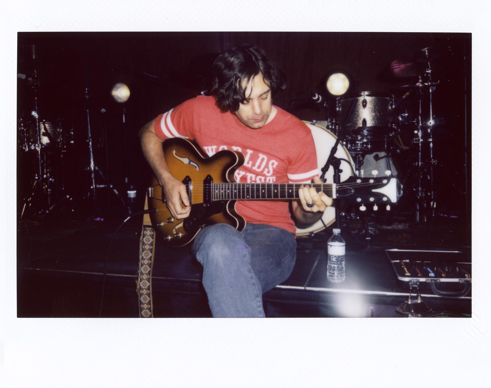 Jeremy Ivey during soundcheck