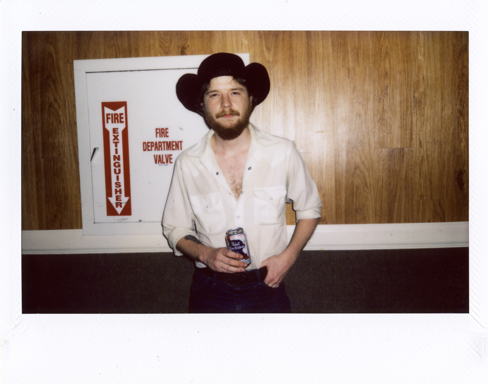 Colter Wall backstage after the show