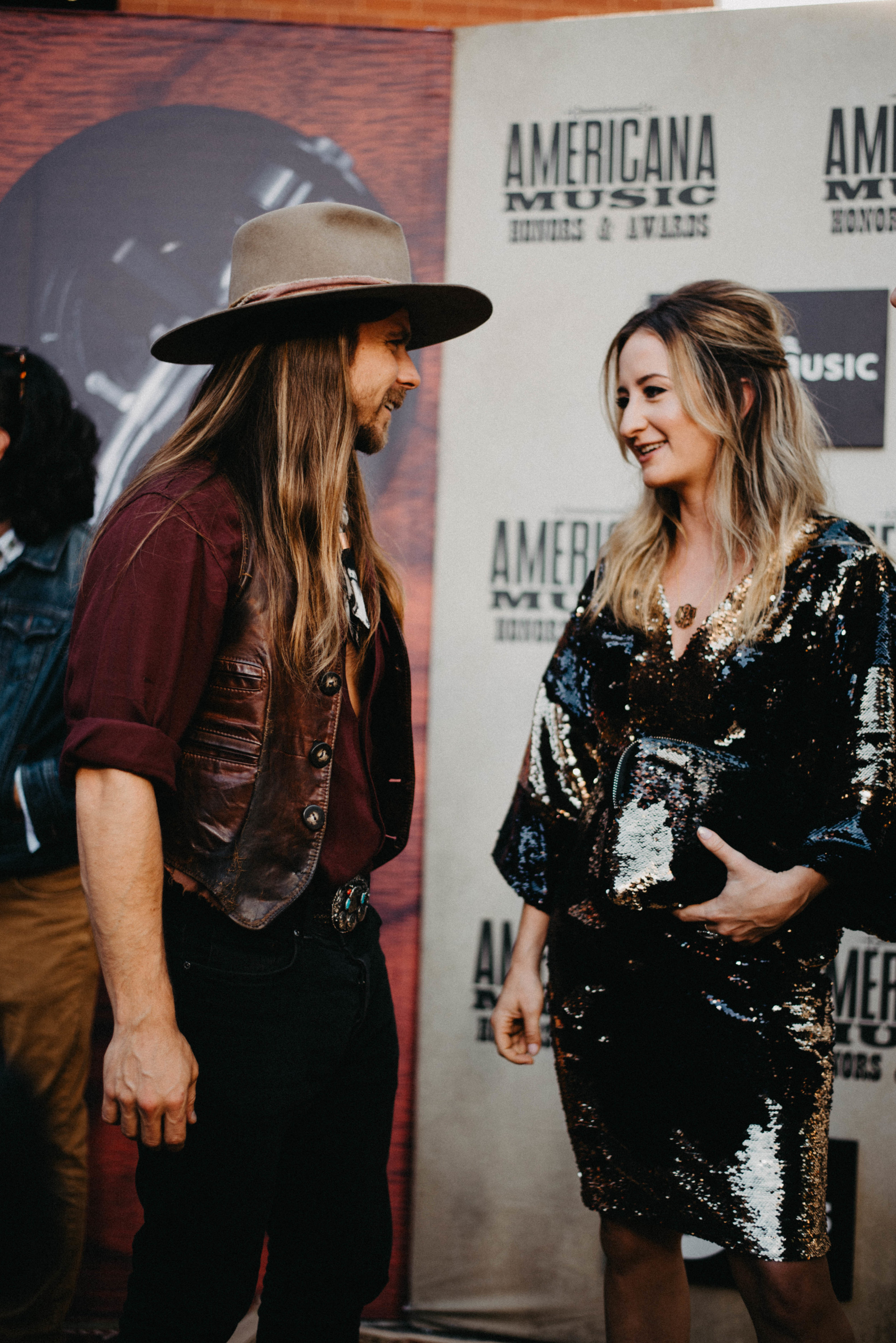 Lukas Nelson & Margo Price wearing Any Old Iron