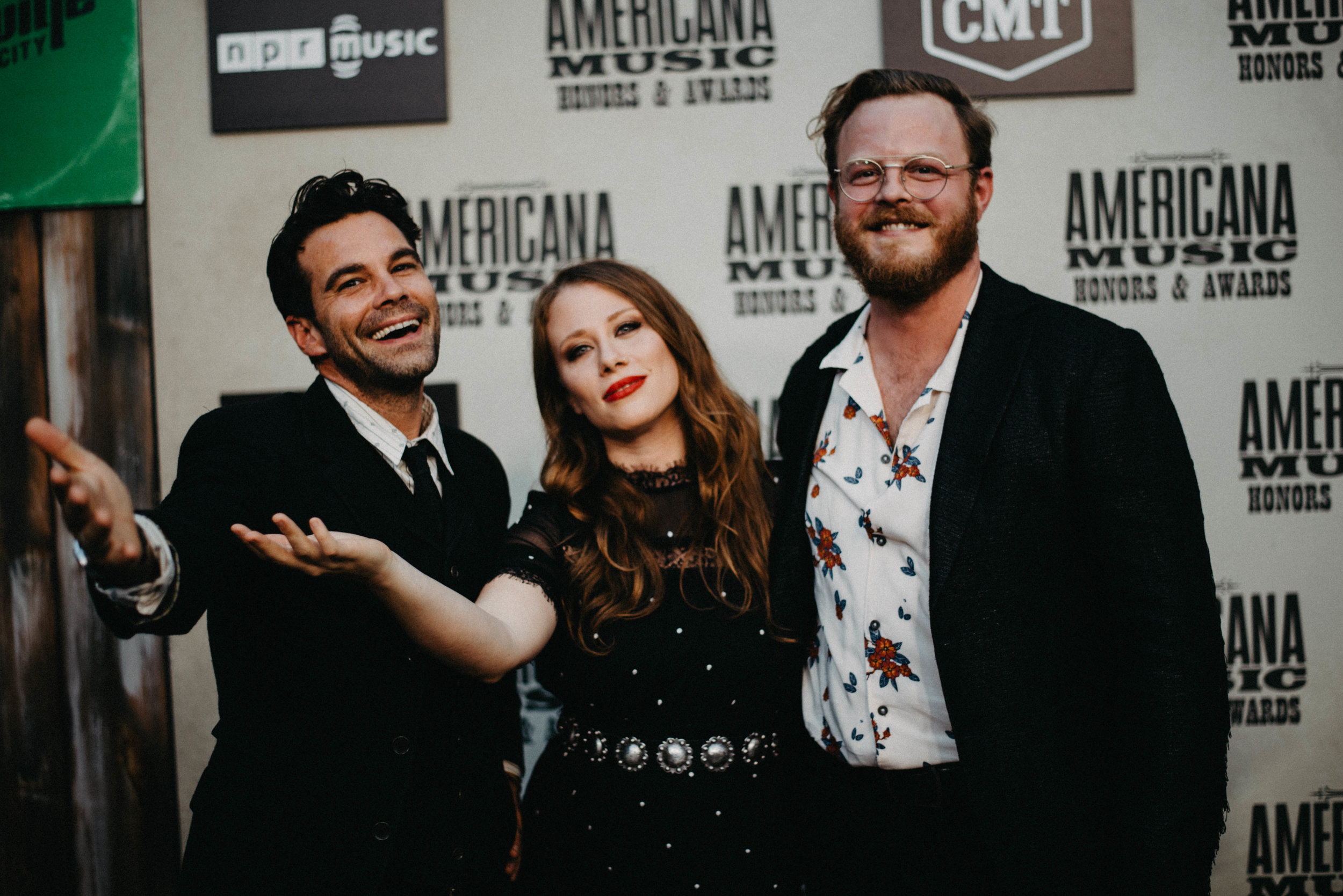 The Lone Bellow. Zach Williams, Kanene Donehey Pipkin, & Brian Elmquist. Hair, Makeup & grooming by Nicole Schimel. Styled by Beth HItchcock.
