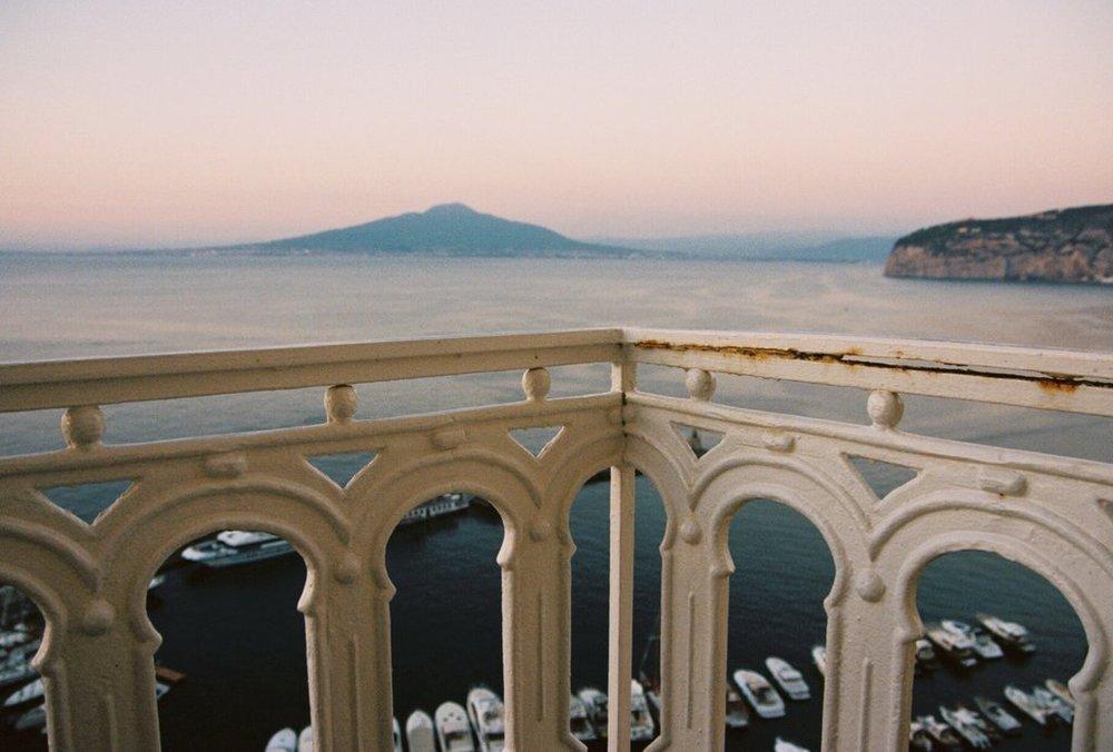 sorrento - overlooking Vesuvius