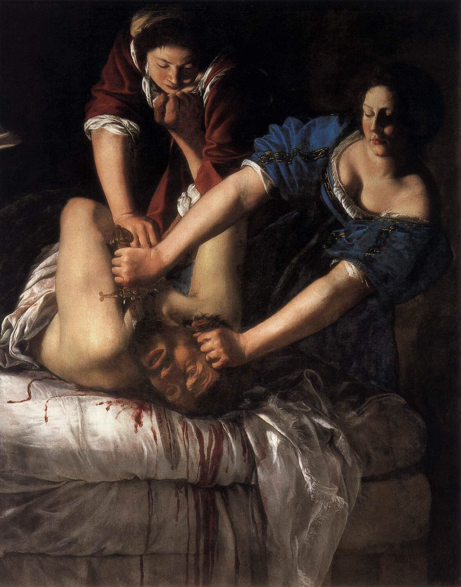 The NAPOLI COPY of JUDITH SLAYING HOLOFORNES by Artemisia Gentileschi.
