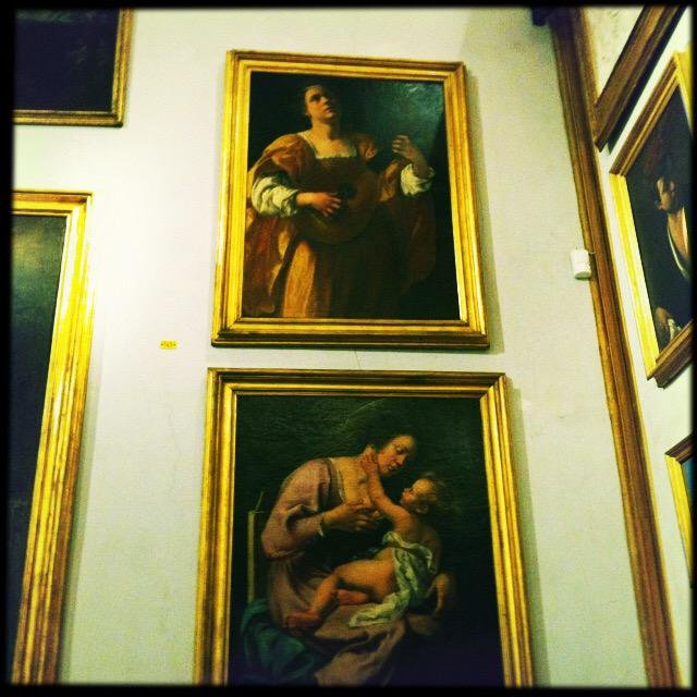 The two paintings of Artemisia in Roma.  FLORENCE: Uffizi Gallery and the Palazzo Pitti both possess major paintings of Artemisia.