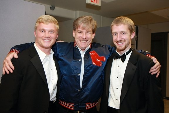James with students at the University of Virginia.