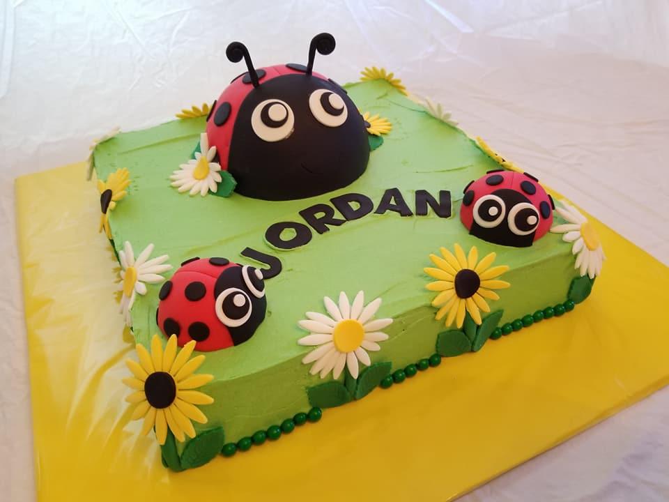 Lady Bug Cake - by Carolyn Rodriguez