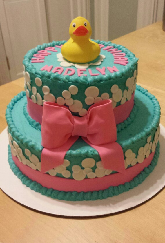 Rubber Ducky Baby Shower Cake - by Carolyn Rodriguez