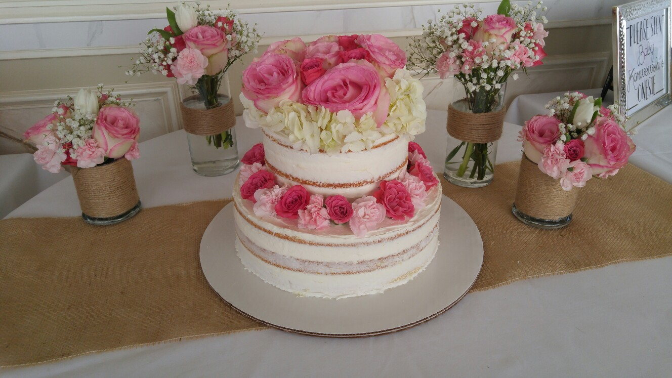 Rustic Rose Cake - by Carolyn Rodriguez