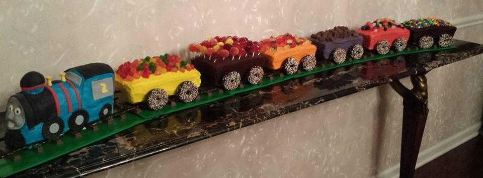 Candy Train Cake - by Carolyn Rodriguez
