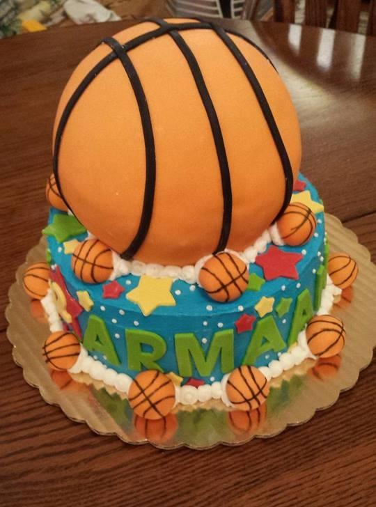 Basket Ball Cake - by Carolyn Rodriguez