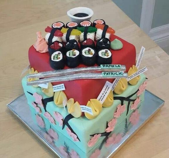 Sushi Cake - by Carolyn Rodriguez