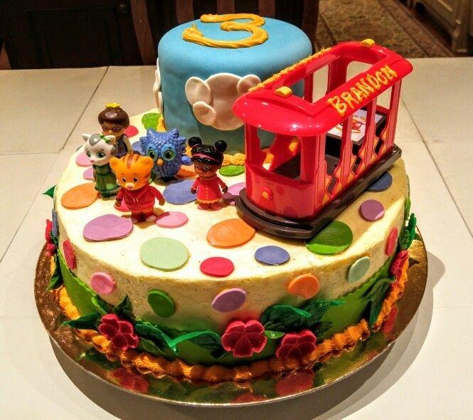Daniel Tiger's Neighborhood Cake - by Carolyn Rodriguez