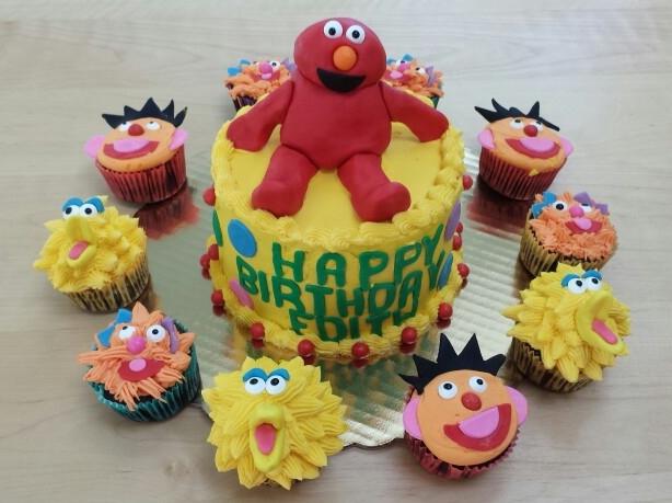 Sesame Street Elmo Cake - by Carolyn Rodriguez