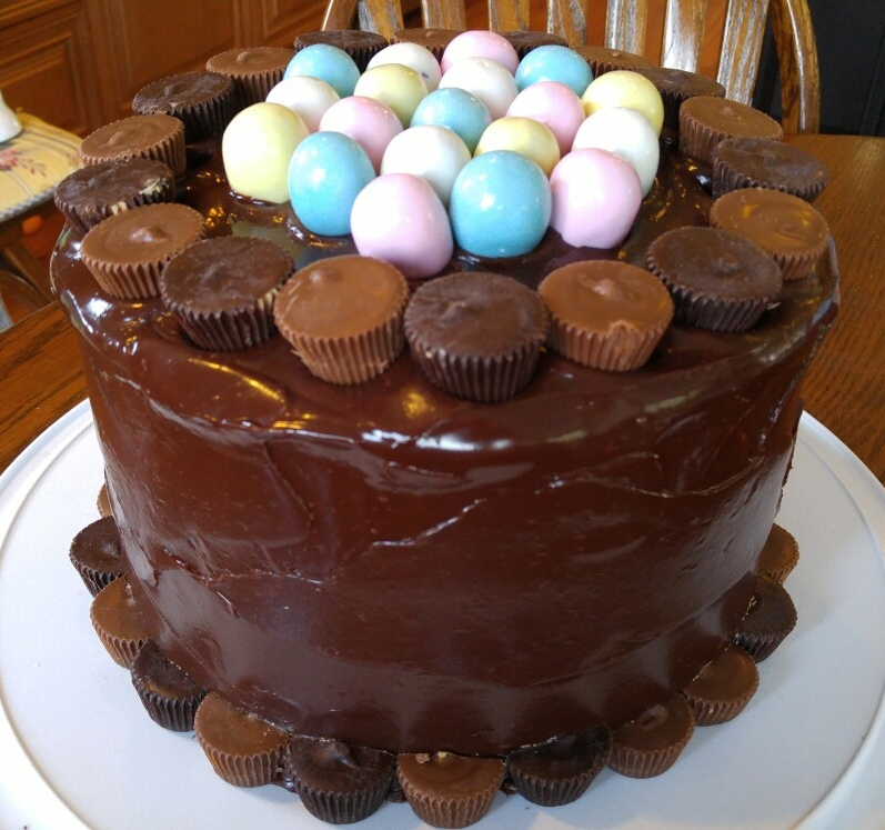 Easter Egg Candy Cake - by Carolyn Rodriguez