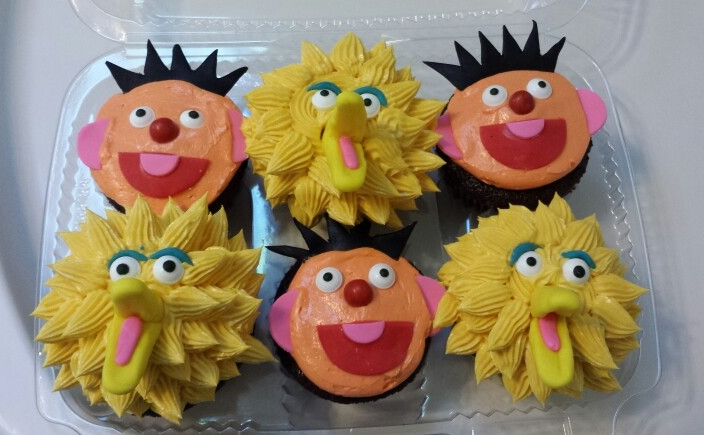 Sesame Street Character Cupcakes - by Carolyn Rodriguez
