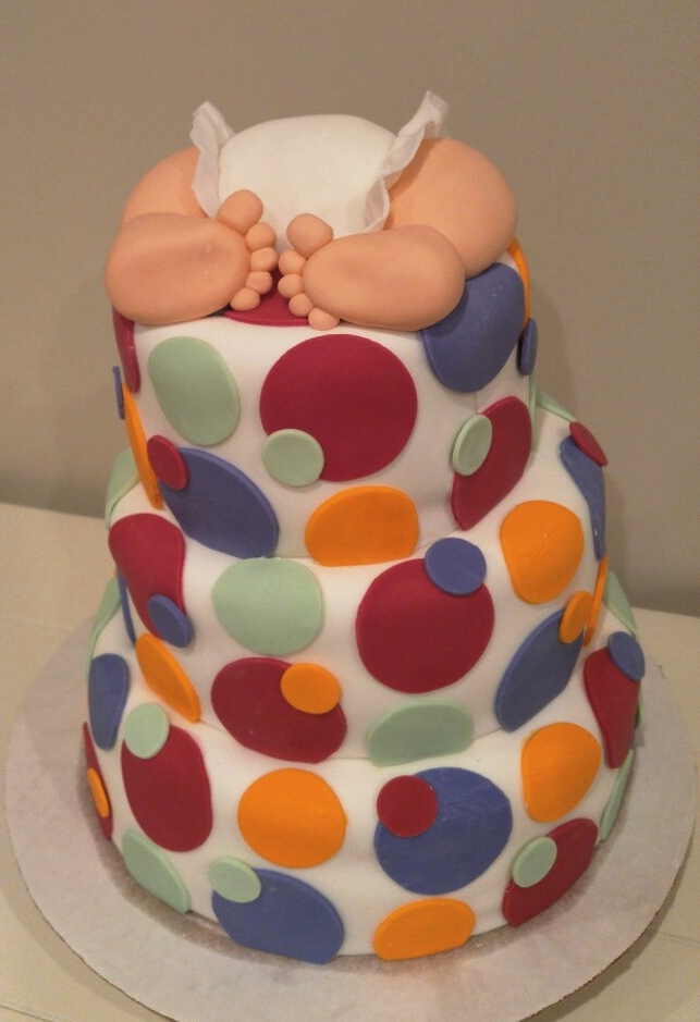 Baby Shower Cake - by Carolyn Rodriguez