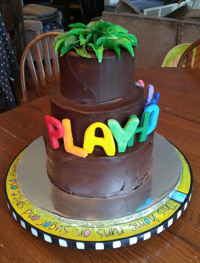 Giant Chocolate Ganache Cake - by Carolyn Rodriguez