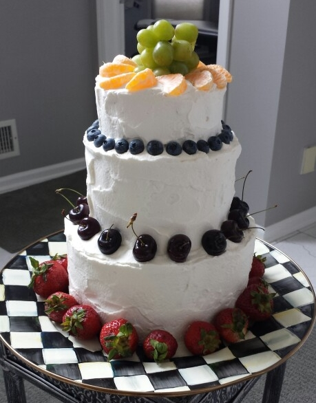 Tiered Buttercream Fruit Cake