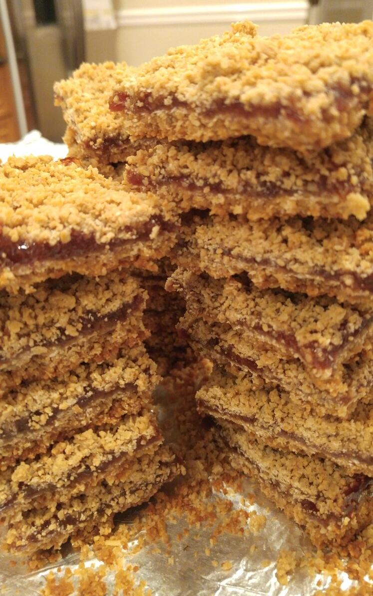 Peanut Butter & Jelly Bars - by Carolyn Rodriguez