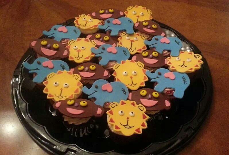 Jungle Animal Cupcakes - by Carolyn Rodriguez