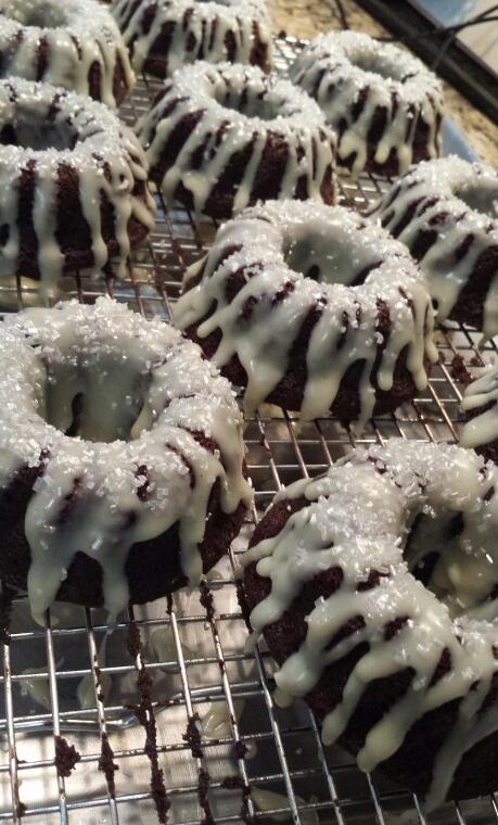 Mini Chocolate Bundt Cakes - by Carolyn Rodriguez