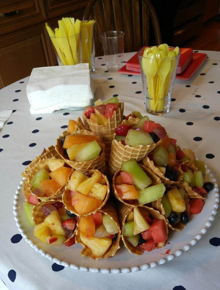 Fruit Waffle Cones - by Carolyn Rodriguez