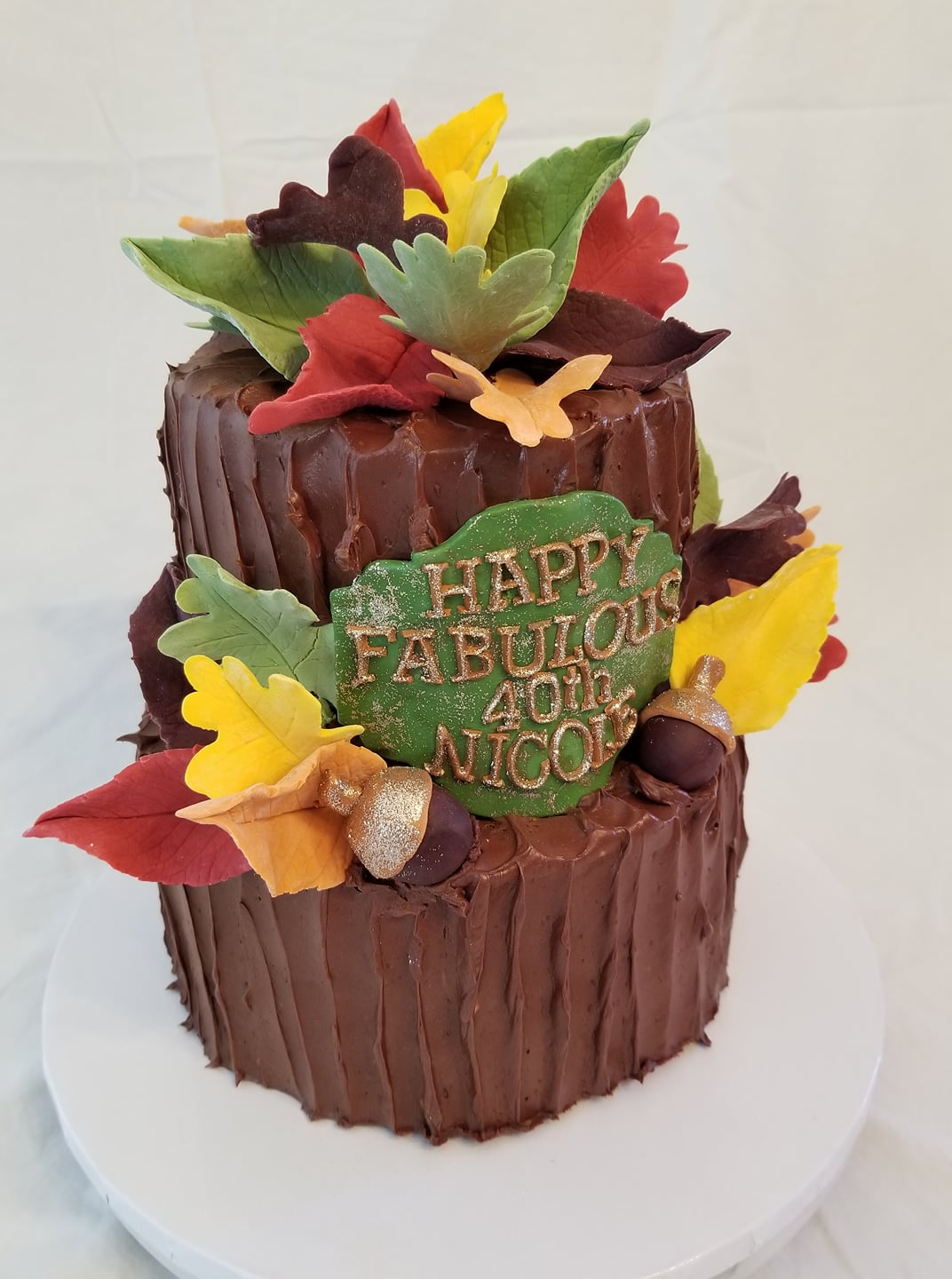 Fall Fest Birthday Cake