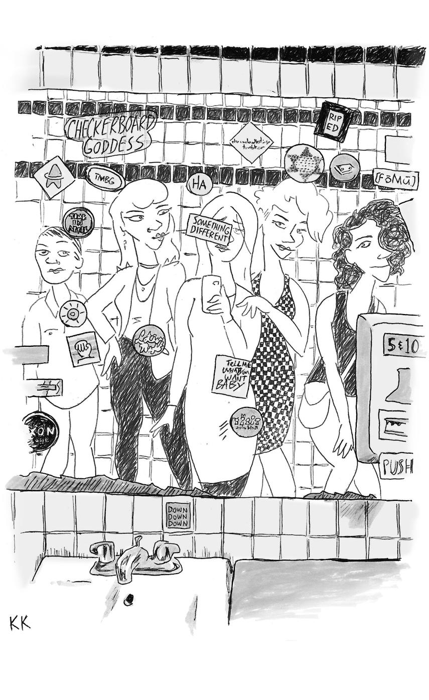 illustration for  Checkerboard Goddess  poem