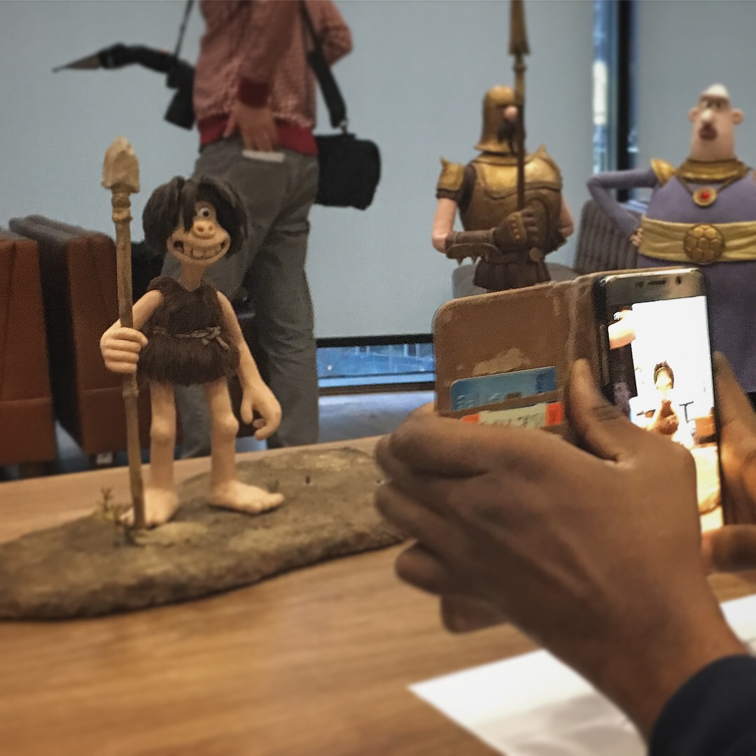 puppets from Aardman's latest film  Early Man